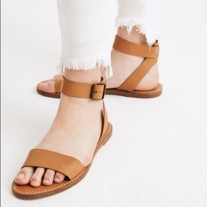 NWT Tan Madewell The Boardwalk Ankle Strap Sandal